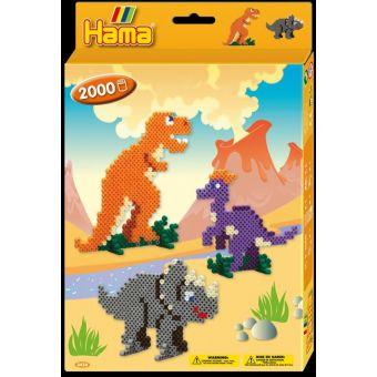 Kit perles & plaques standard (diamètre 5 mm) Dinosaure pack 2