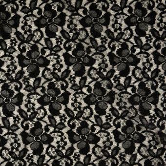 Tissu dentelle fantaisie noir