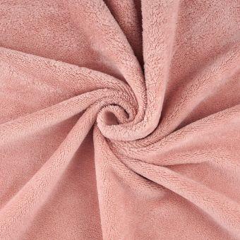 Tissu éponge bambou douce rose