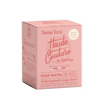 Teinture textile Haute Couture rose pastel