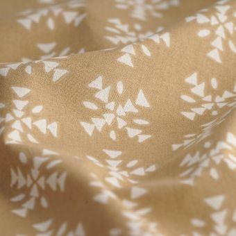 Tissu coton bio camel motif ethnique