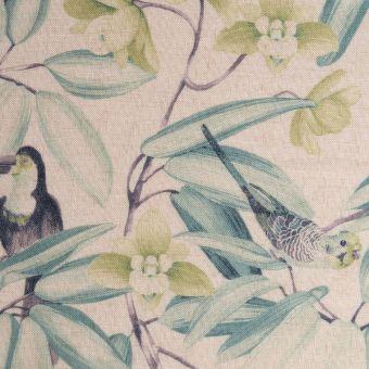Tissu lin perroquet grande largeur