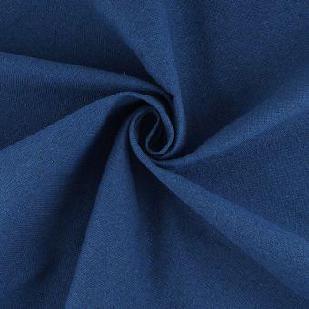 Tissu demi natté bleu coton recyclé