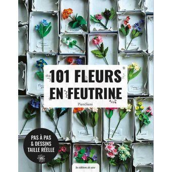 Livre 101 fleurs de feutrine