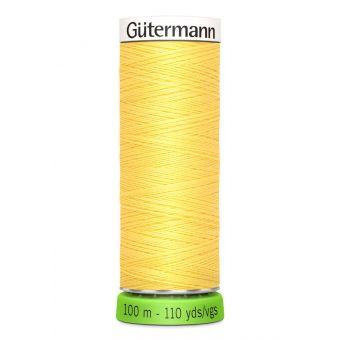 Bobine de fil recyclé rPET 100m universel / points déco fins jaune 852 - Gutermann