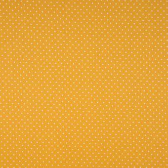 Tissu popeline coton à motifs mini pois jaune