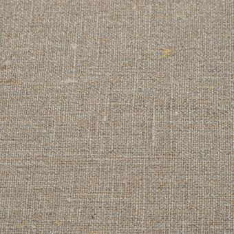 Tissu toile 100% lin couleur taupe pailleté argenté