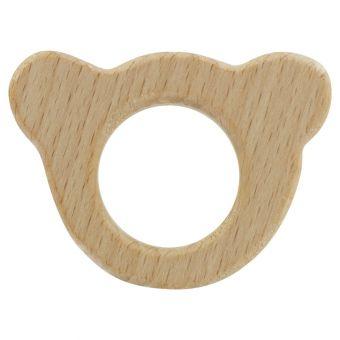 Anneau de dentition en bois ours