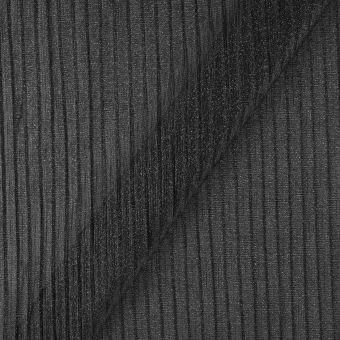 Tissu maille plissée noir pailleté