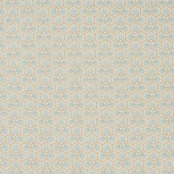 Tissu coton imprimé Riad hexagone vert d'eau