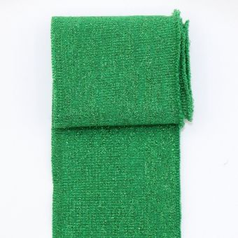 Bord côte uni brillant vert