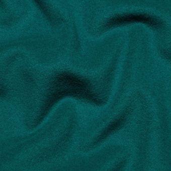 Tissu lainage manteau bleu canard uni fait en Italie