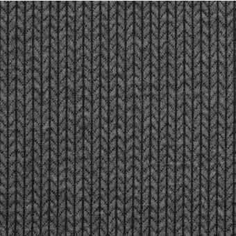 Tissu jacquard coton bio Chevron noir - Albstoffe