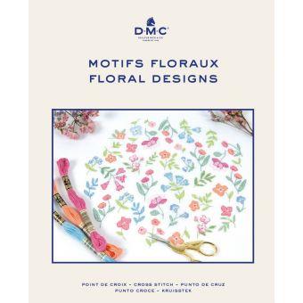Catalogue DMC motifs floraux points de croix