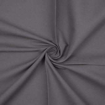 Tissu coton bio uni gris souris