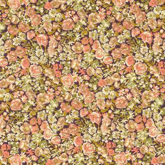 Tissu popeline de coton Liberty marron