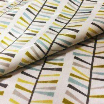 Tissu enduit brillant feuillages multicolore
