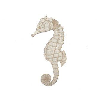 Écusson thermocollant hippocampe beige