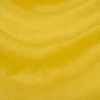 Tissu velboa uni jaune
