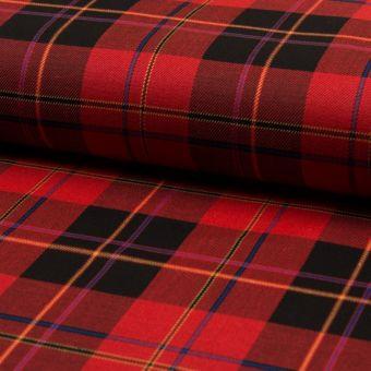 Tissu flannelle à carreaux rouge