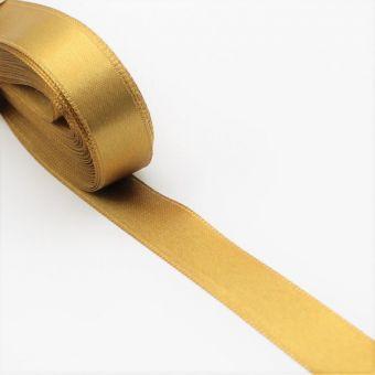 Ruban doré en satin - 15 mm