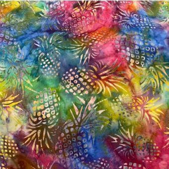 Tissu coton batik multico ananas