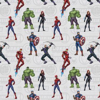 Tissu cretonne Marvel Avengers