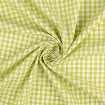 Tissu coton Vichy carreaux vert