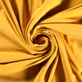 Jersey coton polyester recyclé jaune