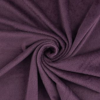 Tissu maille velours supersoft violet