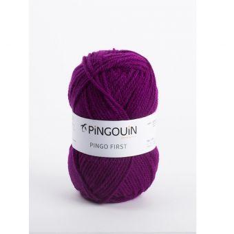 Pelote de fil à tricoter Pingo First violet