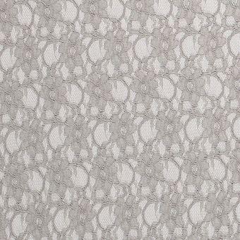 Tissu guipure Anémone gris clair
