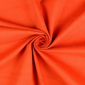 Tropical Floral Imprimé Micro Satin Robe Tissu-Rouge Orange /& Bleu Marine-par la m