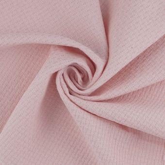 Tissu Nid d'abeille coton Bio rose pâle