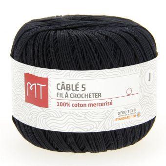 Fil à crocheter n°5 noir