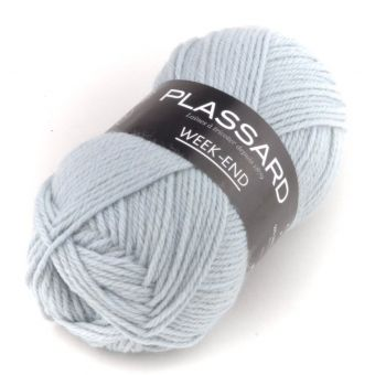 Pelote de fil à tricoter week-end ciel - Plassard