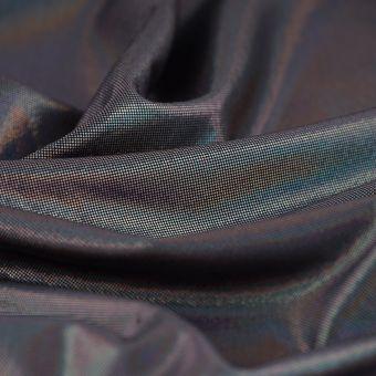 Jersey polyester brillant noir
