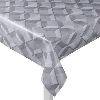 Toile cirée gris géométrique