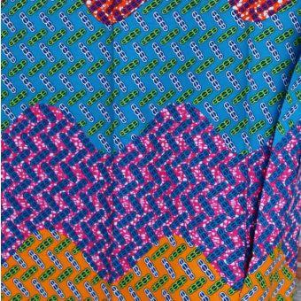 Tissu wax vagues multicolores - Karabashop