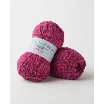 Fil à tricoter Phildar rainbow petunia