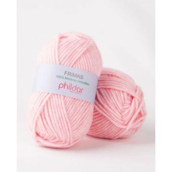 Pelote de fil à tricoter Phildar Frimas églantine