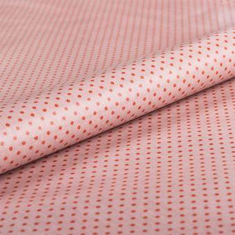 Tissu nappe coton enduit pois rouge rose - AU Maison