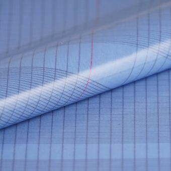 Tissu cretonne enduite cahier bleu