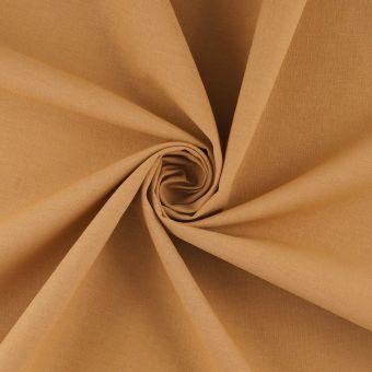Tissu coton uni Cristina Camel
