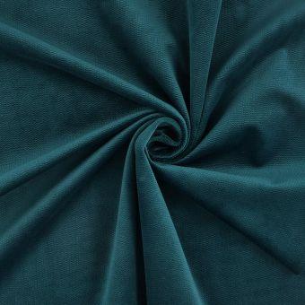 Tissu velours Decker bleu canard