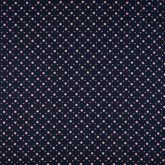Tissu popeline coton à pois