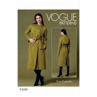 Patron manteau femme Vogue 1650