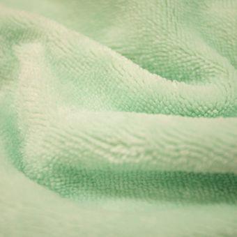Tissu éponge bambou doudou vert pâle