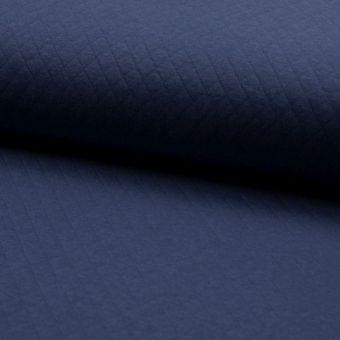Tissu jersey matelassé bleu