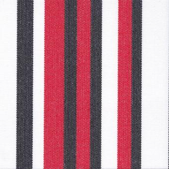 Tissu d'extérieur anti-uv traitement Teflon rayé rouge noir blanc